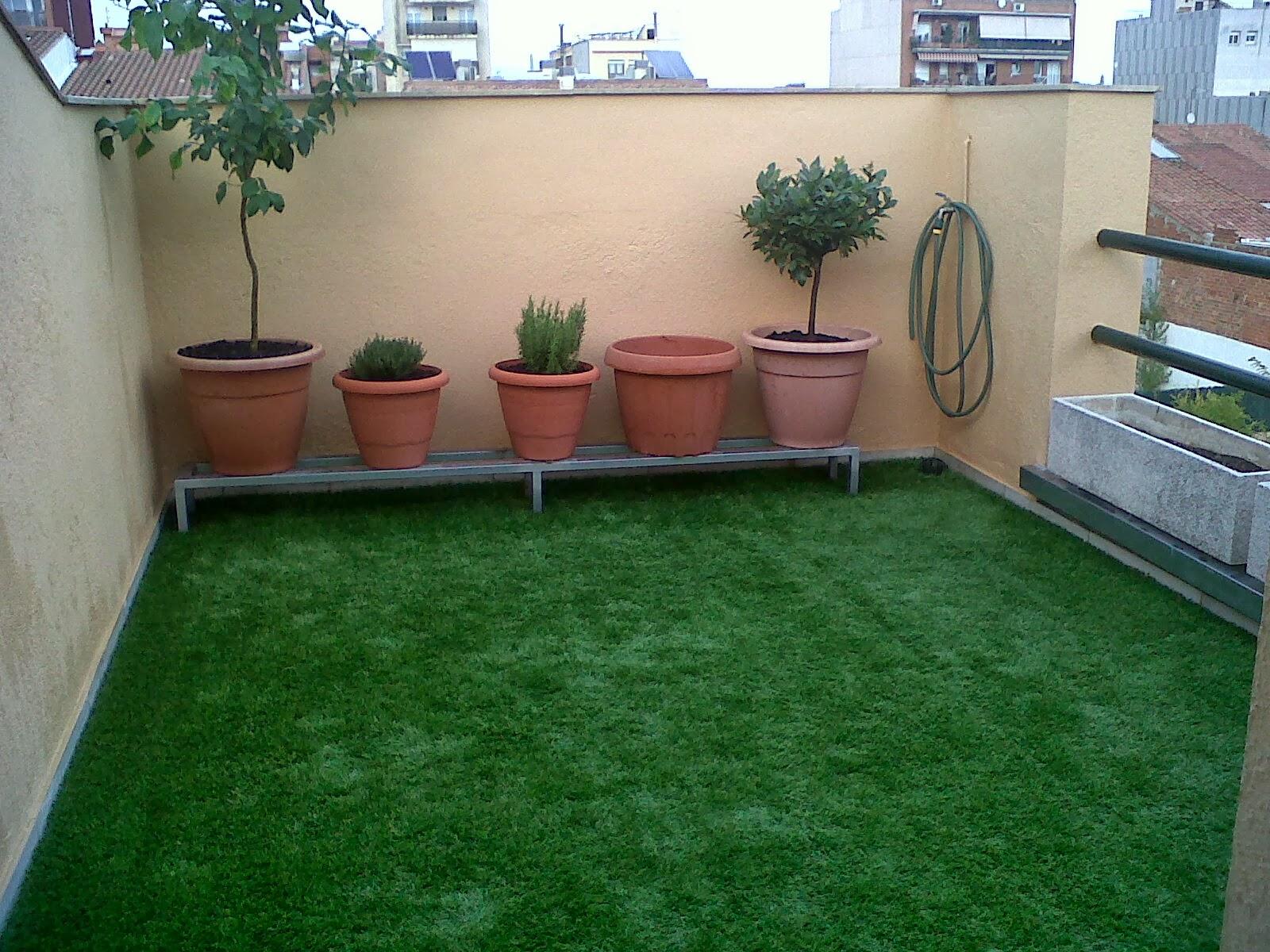 El c sped artificial sin arena en terrazas cespedvallirana - Cesped artificial para terrazas ...