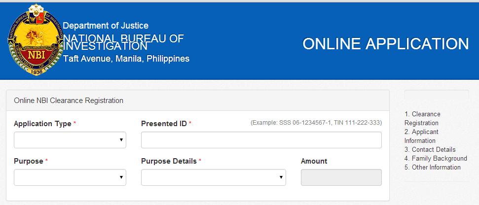 Online NBI Clearance Registration System
