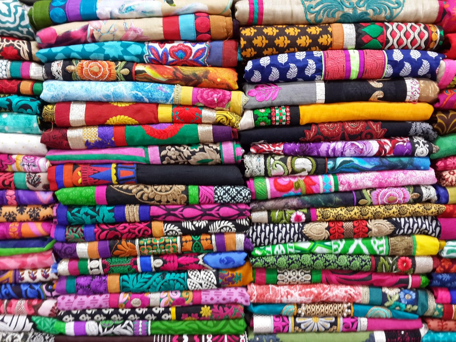 the factories are making western clothing but the local textiles are far more interesting photo matthew hartzell
