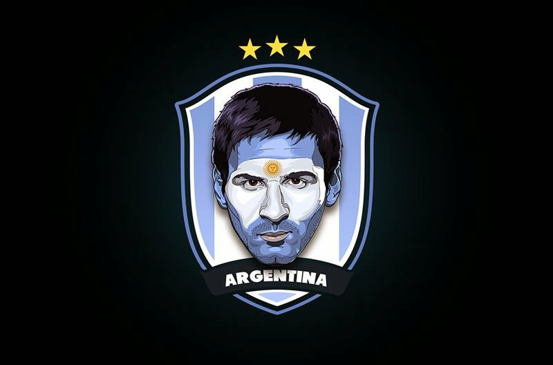 Stars of Brazil 2014 by Rudi Gundersen — Messi