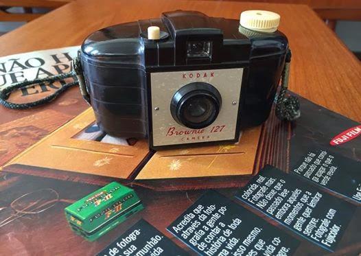 Kodak, Brownie 127, fotografia vintage, analógico, anos 50, máquina fotográfica