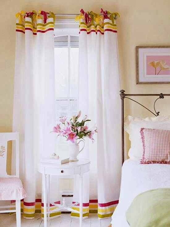 ribbon-banded-curtains