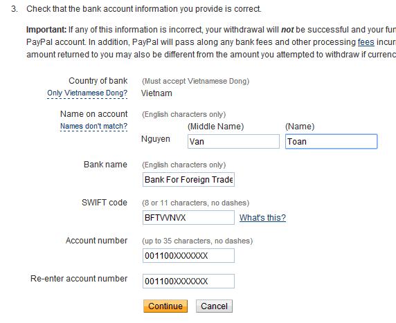 Hướng dẫn rút tiền từ Paypal về Vietcombank