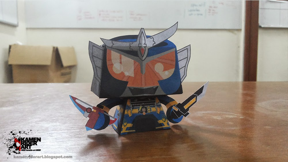 Gaim Jimber Lemon Arms Paper Toy