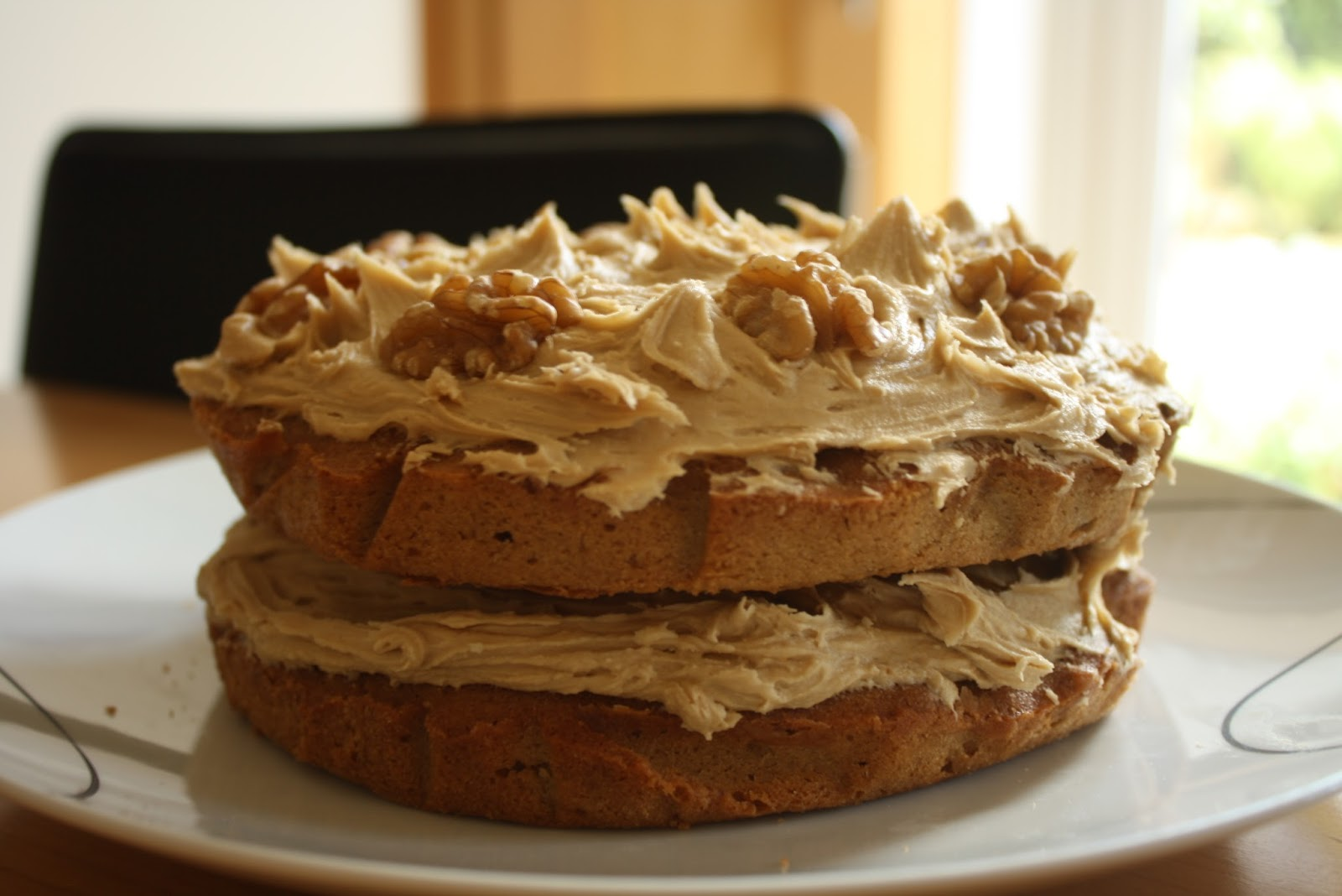my favourite cake in the history of the world is coffee and walnut ...