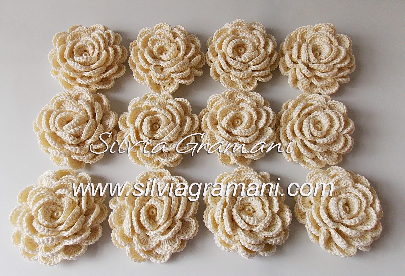 Flores de Crochê - Rosas de Crochê
