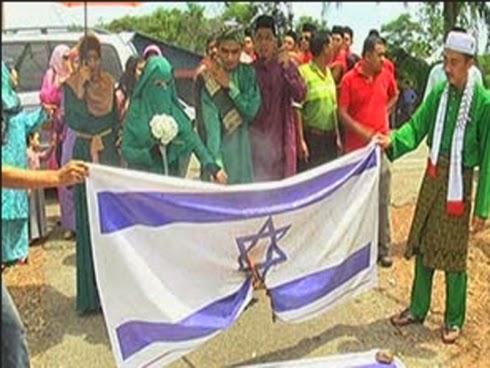 Pengantin bakar bendera dah popular sampai ke Israel