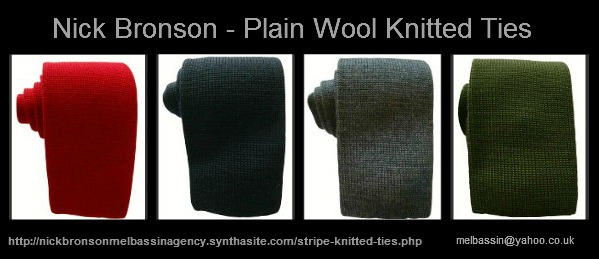 Plain Wool Knitted Ties