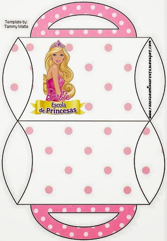 barbie princess school  free printable boxes