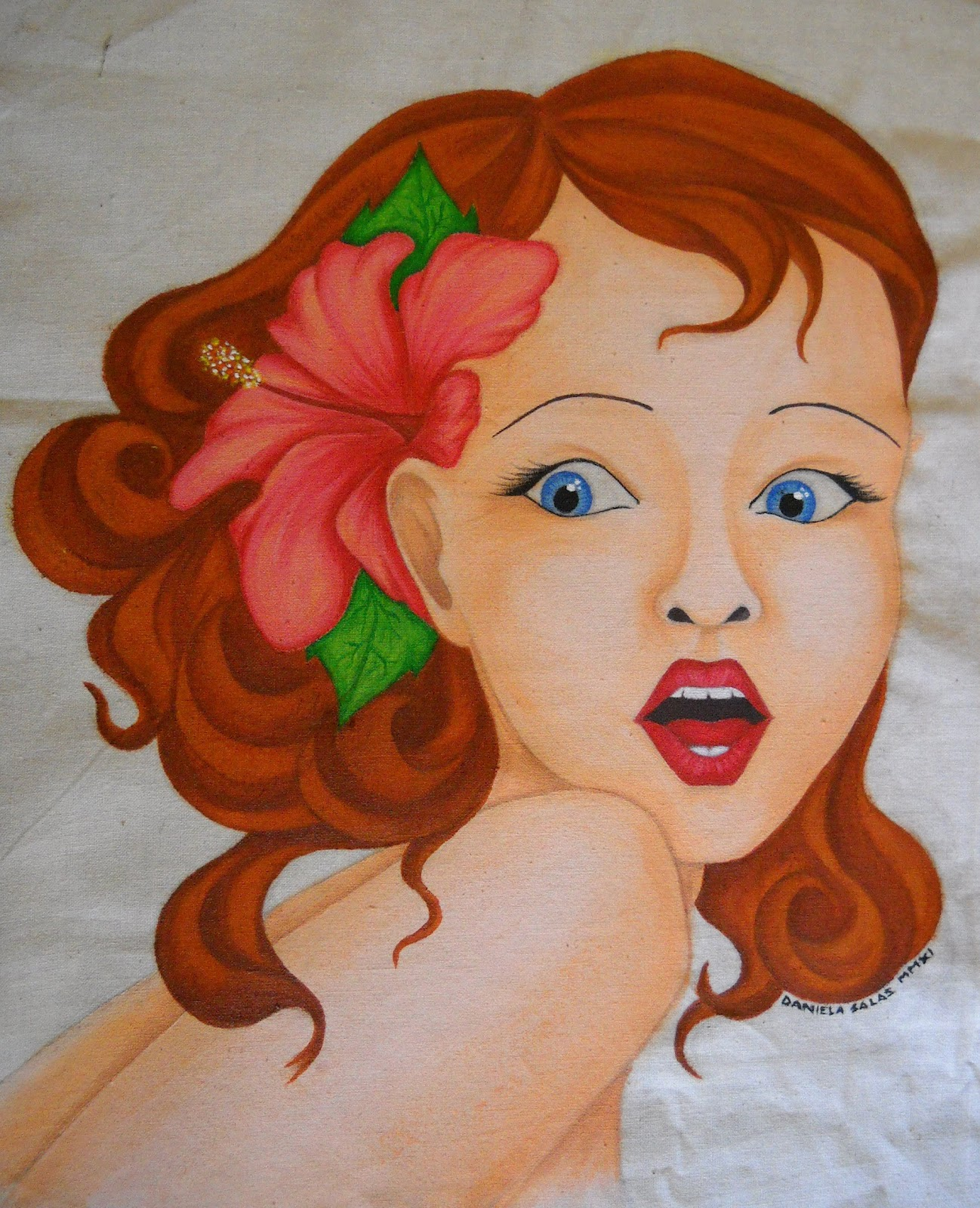 Daniela salas pinturas en tela - Pintura en tela motivos navidenos ...