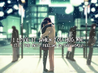 I Love It When You Hug Me