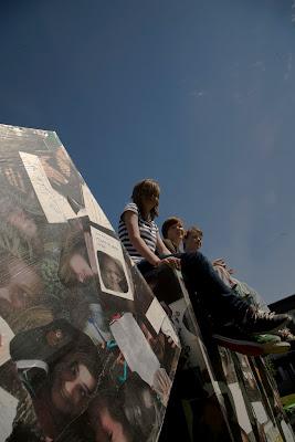 Barn från Gullspång har som projekt i Skapande skola gjort block med bildmontage. Foto: Staffan Hjalmarsson CC BY-SA
