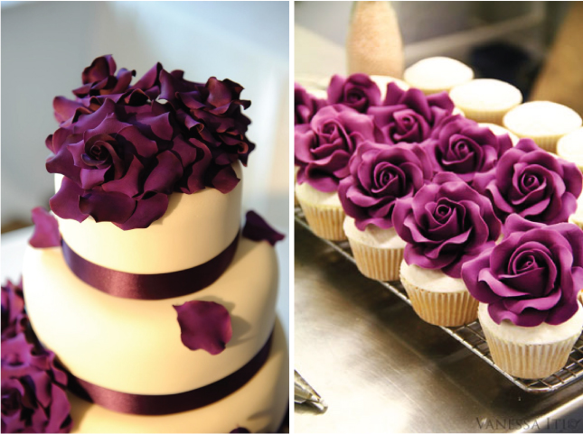 Beautiful Bridal: Purple Wedding Cupcake Ideas