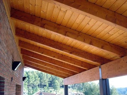 Techos de madera para exteriores decoracion casas ideas - Pintura para maderas interior ...