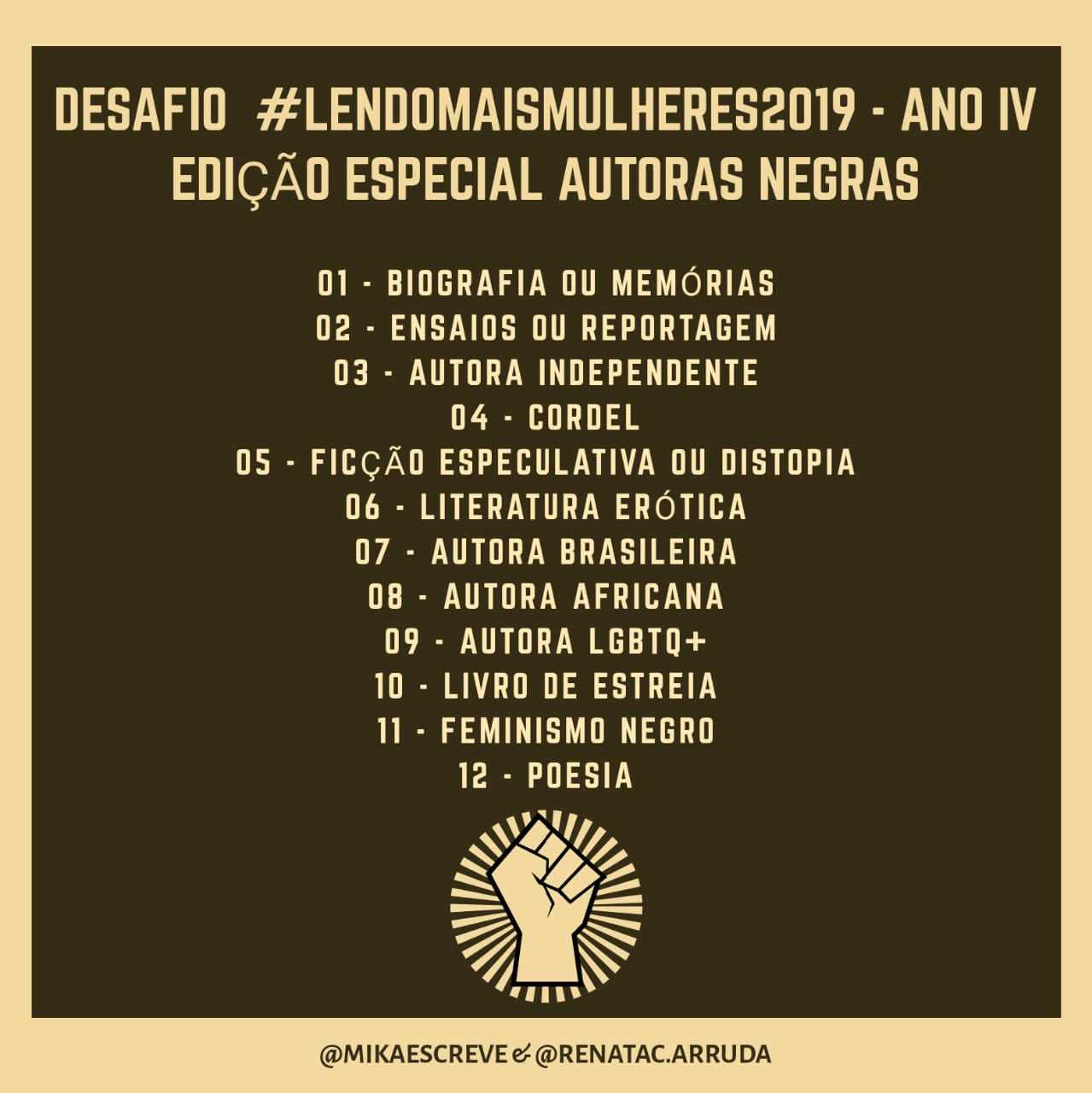 #LendoMaisMulheres2019
