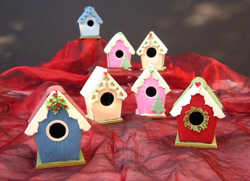 gingerbread house lebkuchenhaus birdhouse fondant