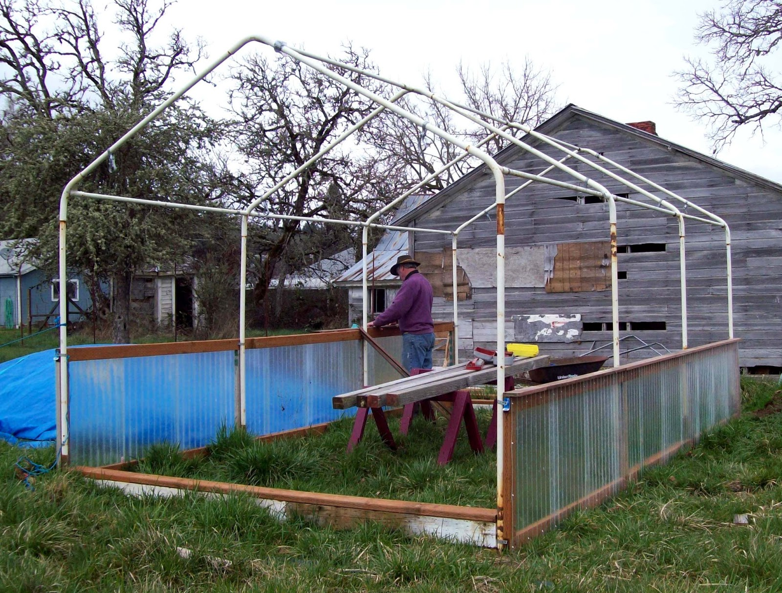Carport Greenhouse Canopy : Quot sharing gardens carport frame greenhouse design
