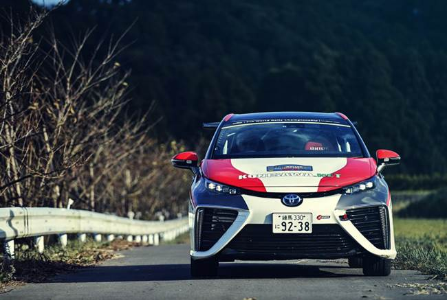 What's Toyota's Mirai hydrogen fuel cell rally car's?