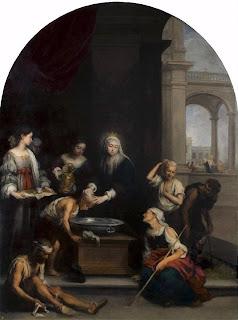 Santa Isabel de Hungría curando a los enfermos