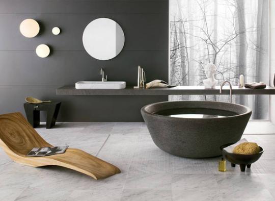 Moderne Duschen Bilder : Stilvolle Badezimmer inspiriert von der Natur ...