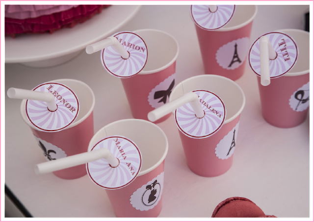 Paris Party personalised party cups from BistrotChic