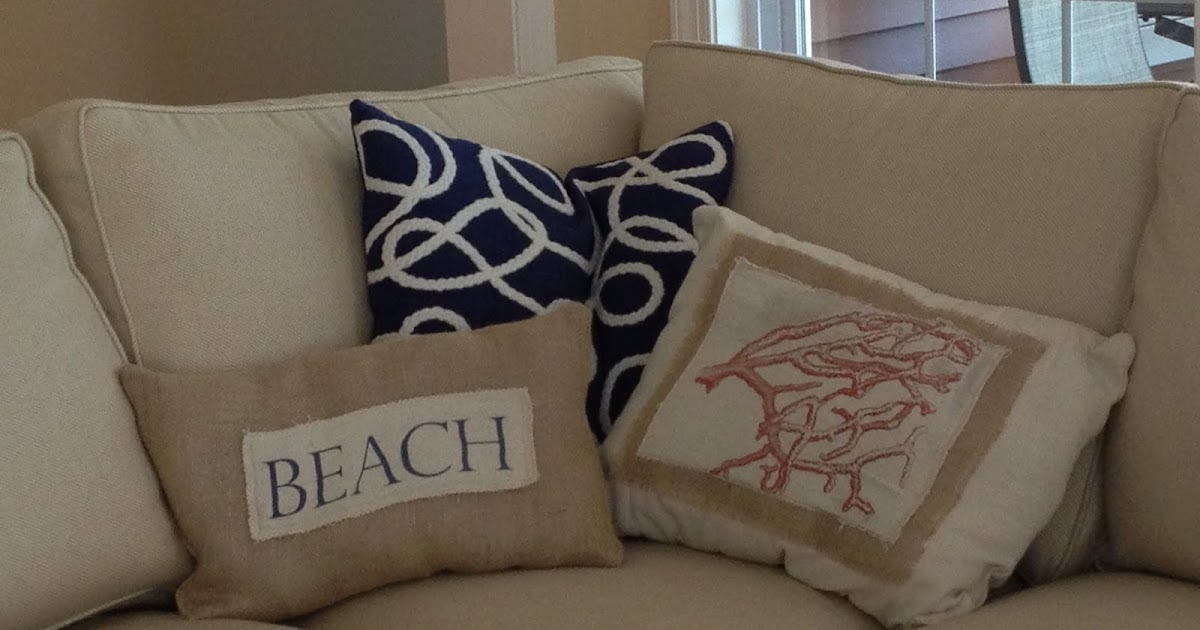 Inexpensive Beach Throw Pillows : Two It Yourself: DIY Beach Throw Pillows on the cheap and easy