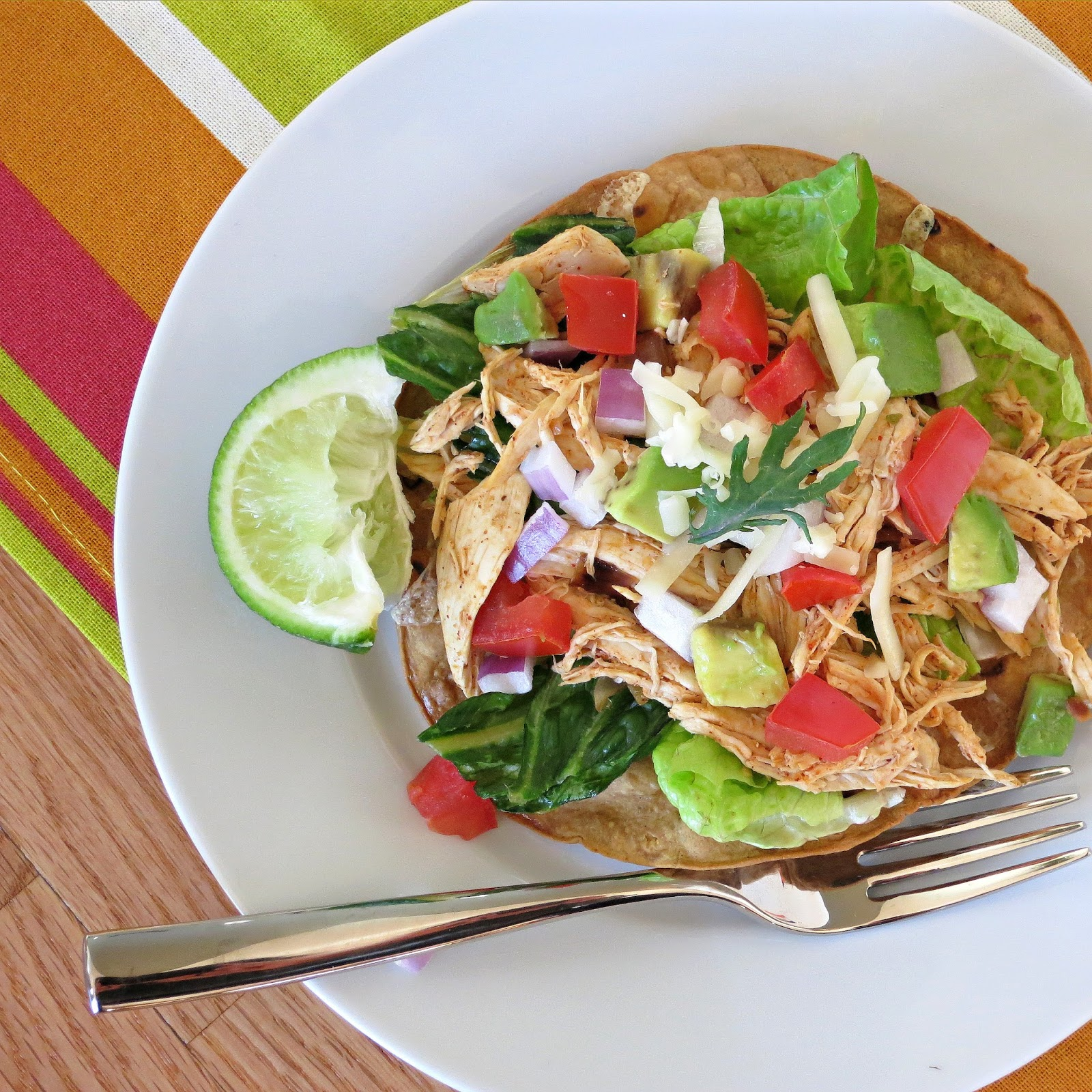 Chicken Tostada Salad - Alida's Kitchen