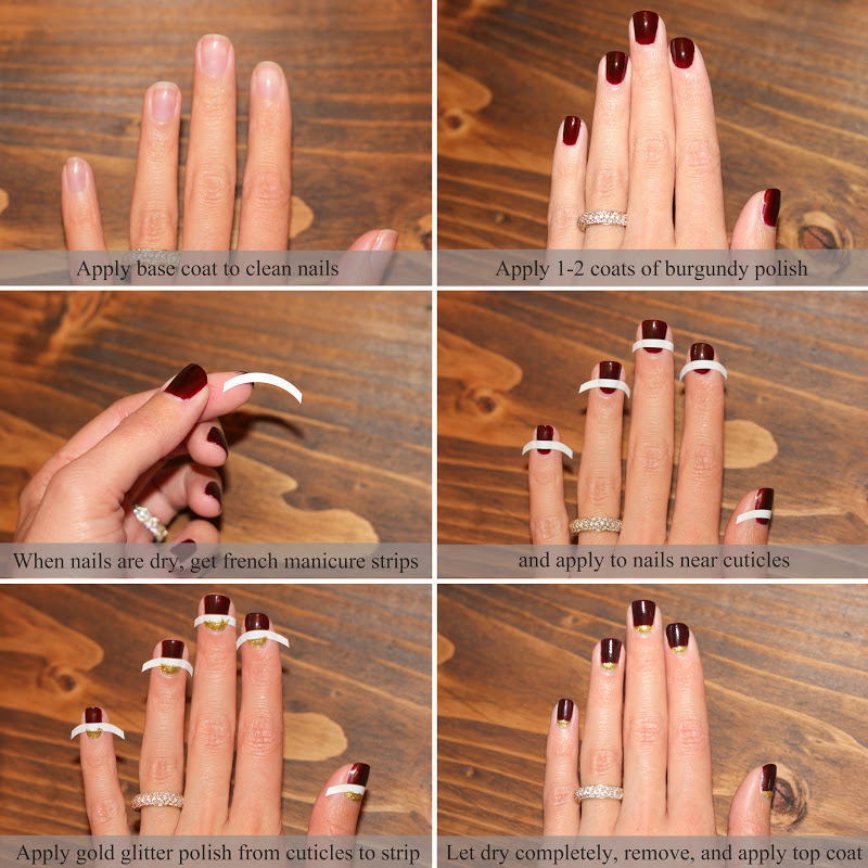 A LITTLE BIT OF LACQUER: Fall Half Moon Nail Tutorial