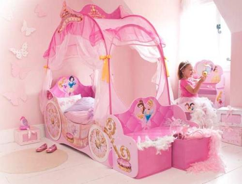 10 dormitorios estilo princesas disney ideas para for Cuartos de princesas