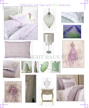 Girls soft lilac and mint bedroom