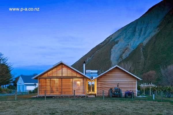 Casa rural contemporánea en Nueva Zelanda