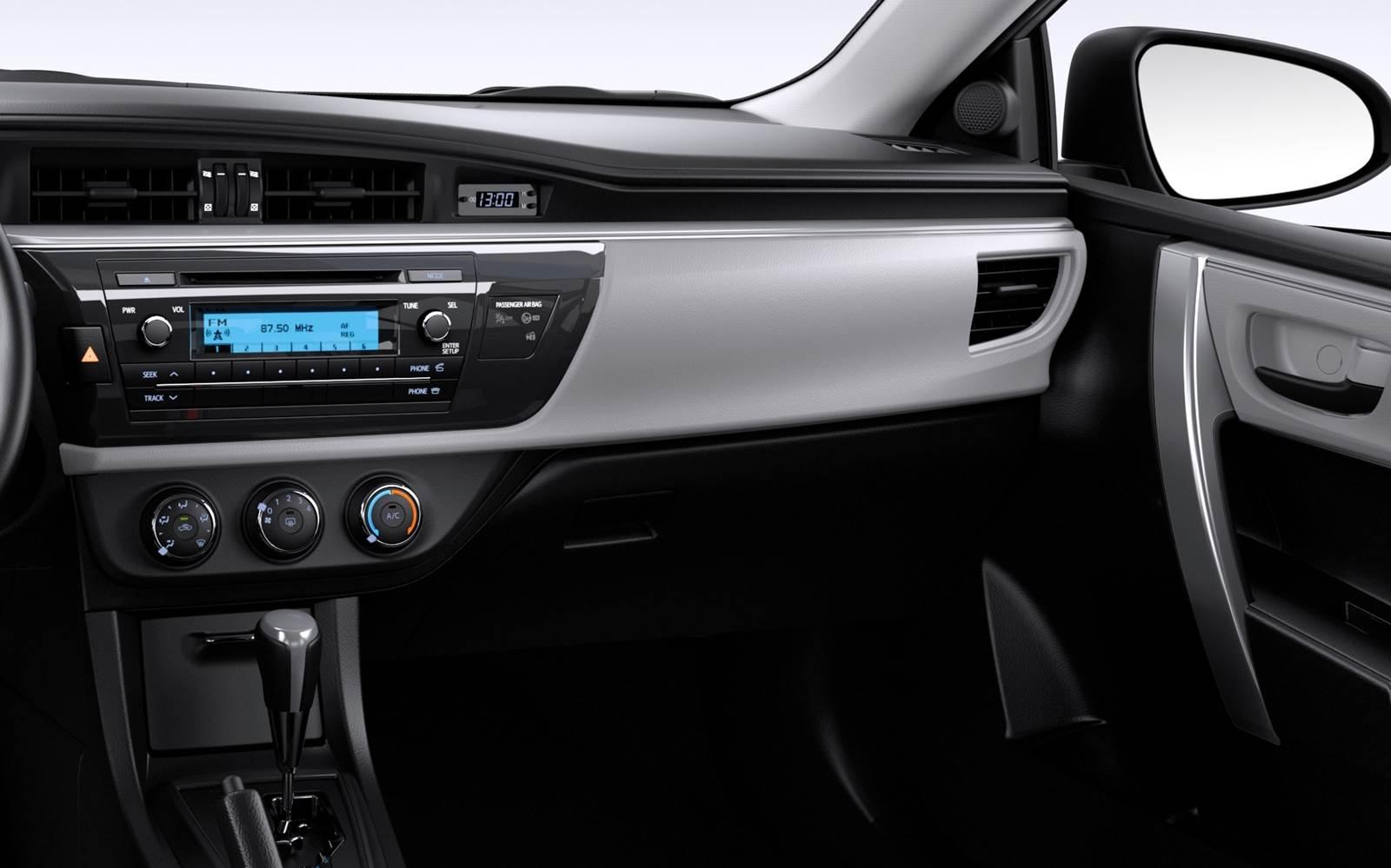 Novo Toyota Corolla GLi 2016 Upper - interior - painel