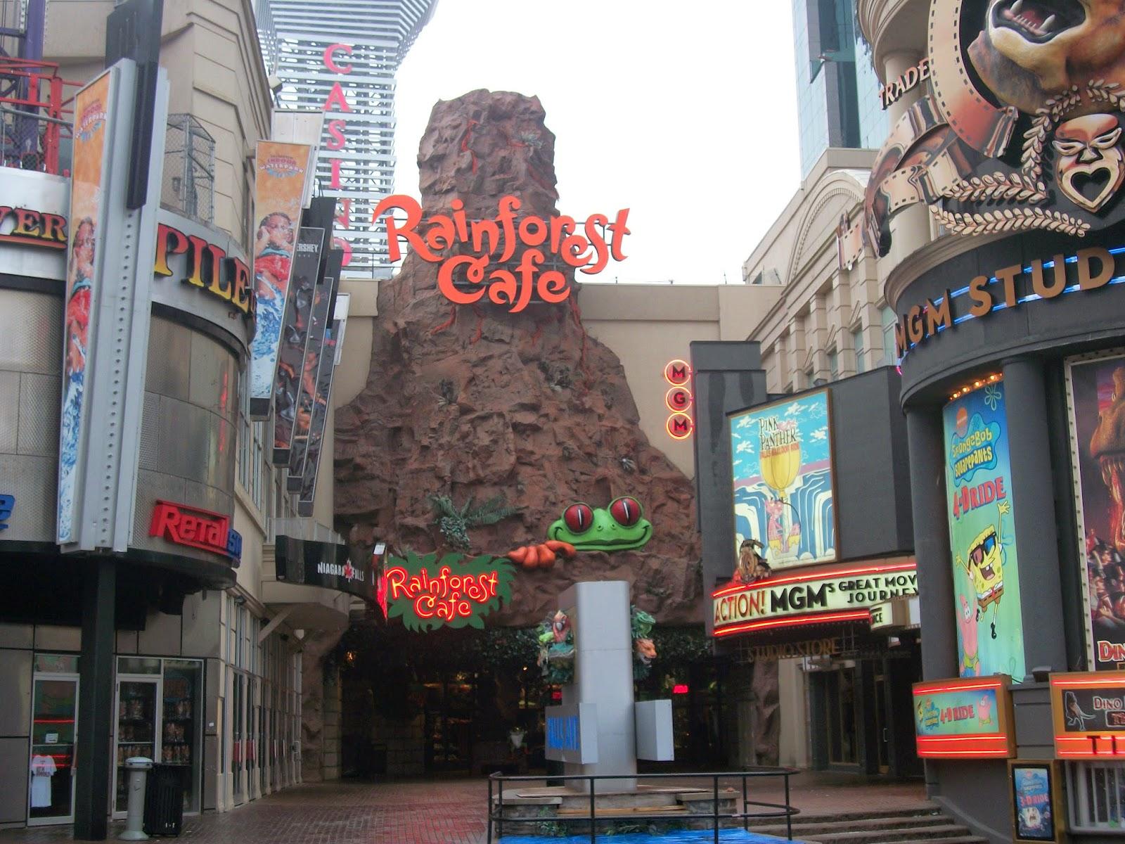 Rainforest Cafe Niagara Falls Hours
