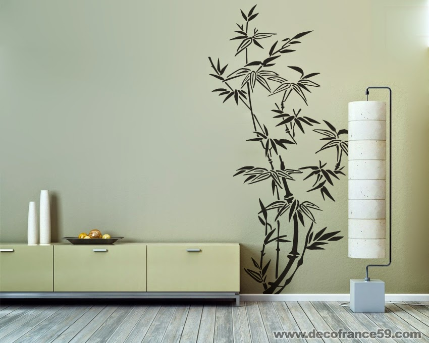 Salle De Bain Japonaise France : sticker mural d'une branche bambous chinoises pour une décoration 100 …
