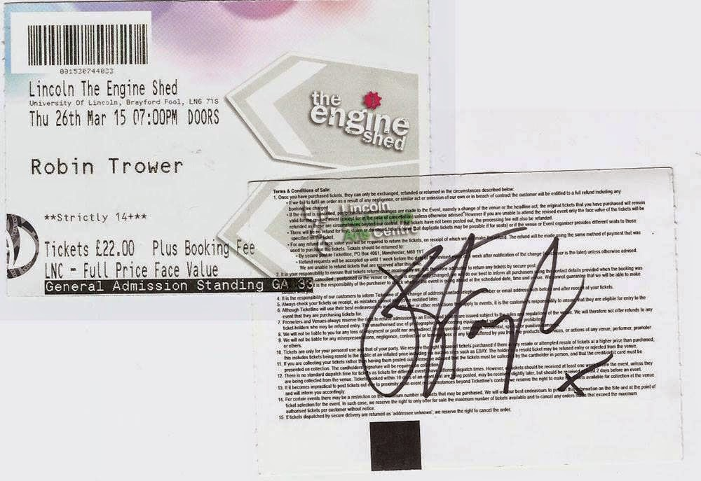 Joanne Shaw Taylor autograph on Robin Trower ticket
