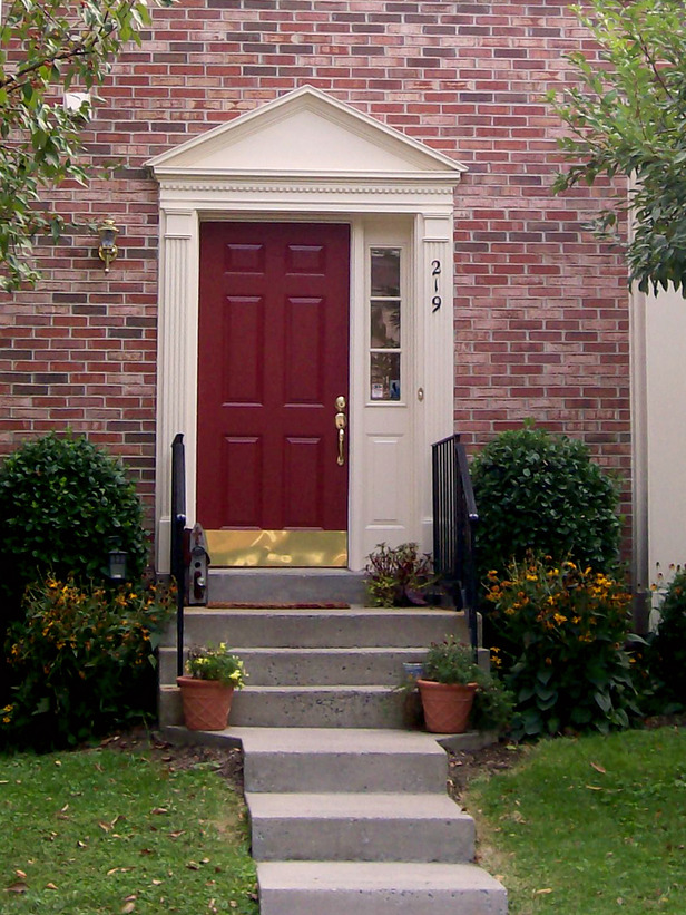 Blossom and bev a new red front door Best front door colors for brick house
