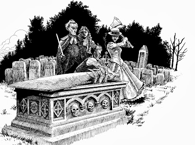 Coffin Crashers Illustration by Christianne Benedict