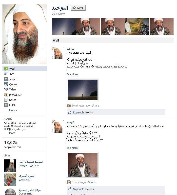 osama bin laden facebook profile. Osama Bin Laden Facebook