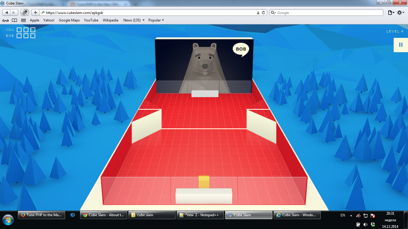 The game is working with CSS3 instead of WebGL in Safari 5.1.7