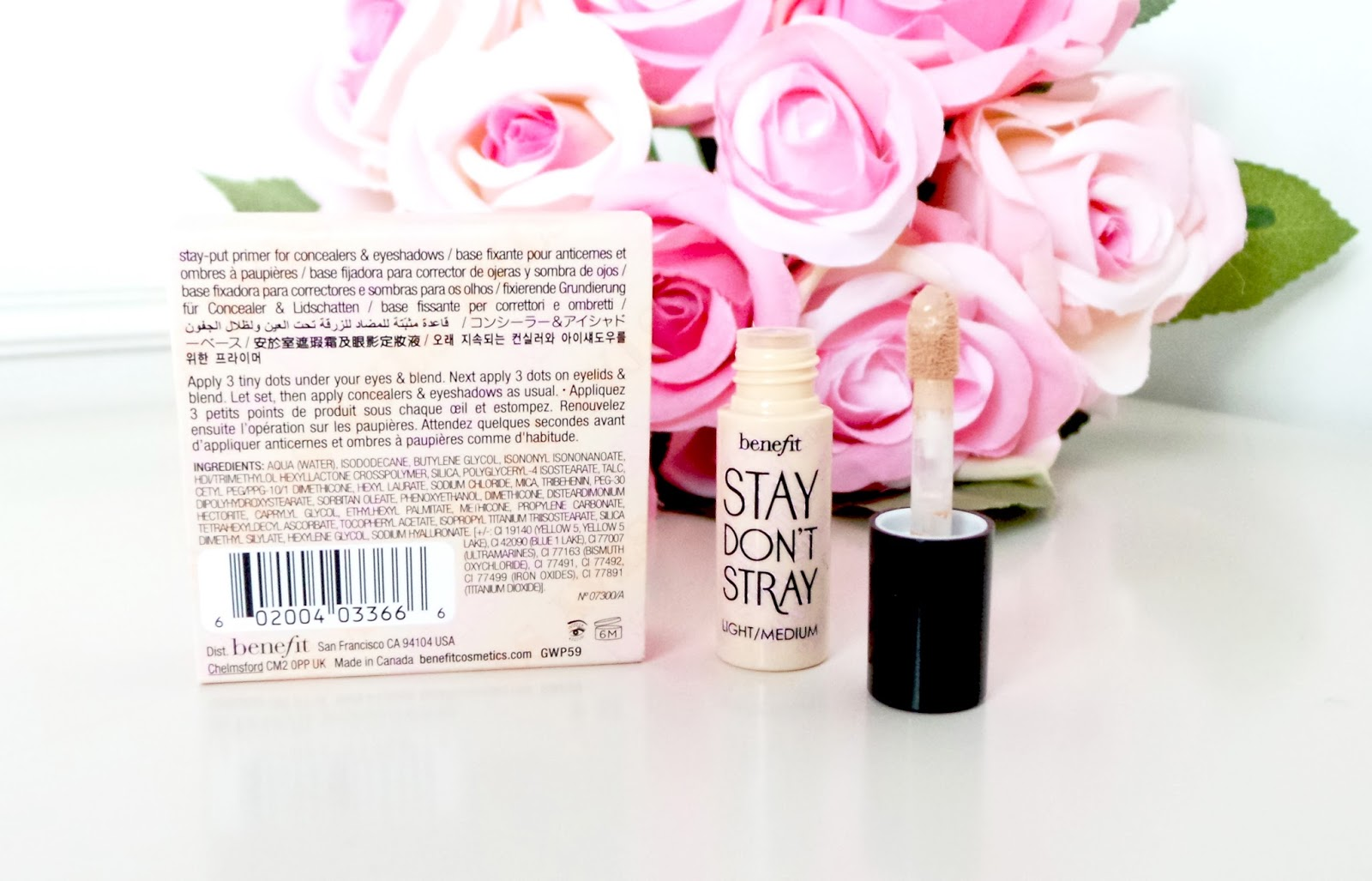 "Review Benefit ""Stay Don't Stray"" Eyeshadow/Concealer Primer - Light/Medium, benefit review, benefit stay dont stray primer, stay dont stray review, beauty blog, beauty blogger, uk beauty blog, uk beauty blogger, uk blog, benefit product review, best eye primer, good eye primer, light eye primer, medium eye primer, bbloggers, lauras all made up, lauras all made up blog,"