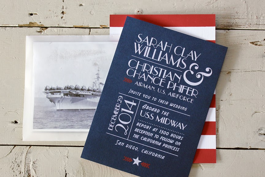 bricks & honey red, white & blue wedding invitations Wedding Invitations Red And Blue sarah contacted me about designing the invitations for her 1940's military themed wedding she knew she wanted a red, white blue design, something with a wedding invitations red and black