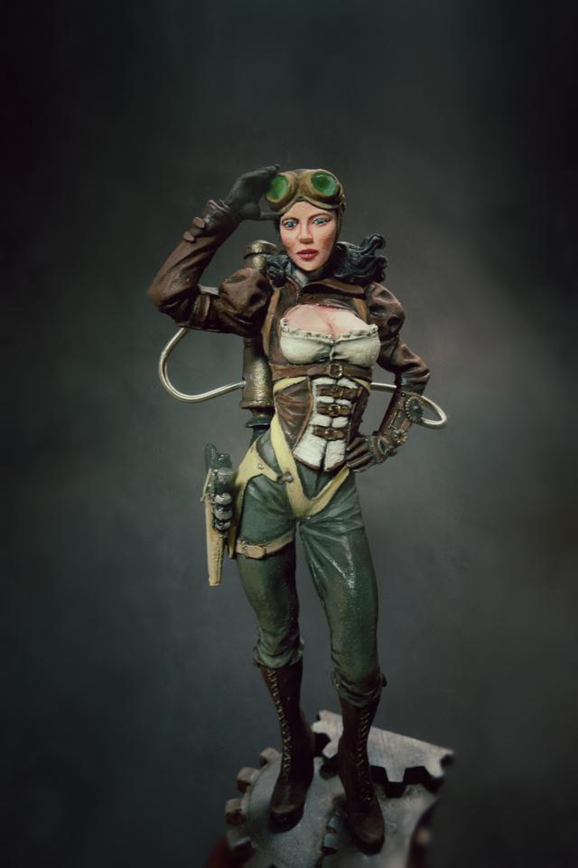 Steampunk Female Pirate Captain