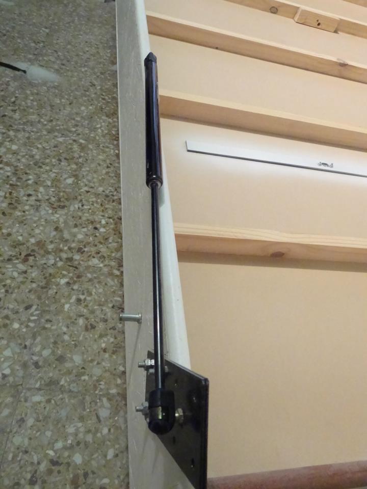 Cartago deco cama rebatible color blanco con craquelados laterales y sistema de airspring doble - Camas rebatibles ...