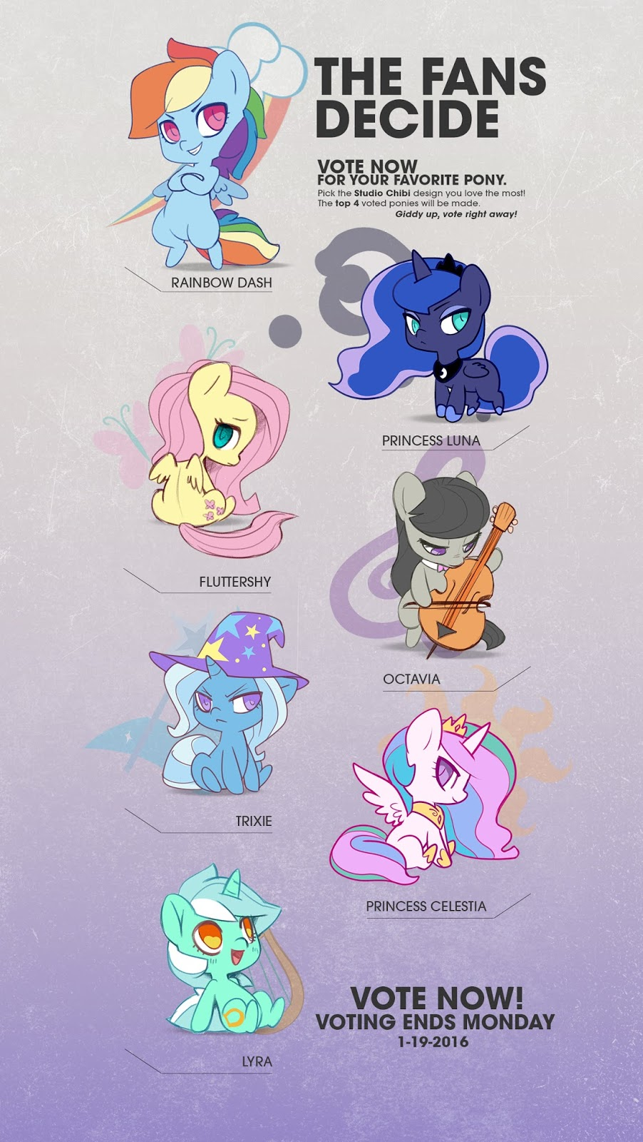 Vote for the next Welovefine Chibi Figures   MLP Merch