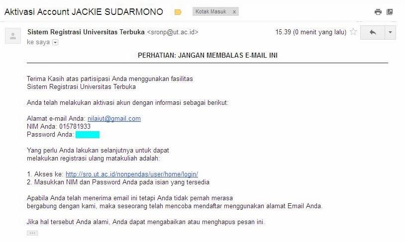 Sistem Registrasi Universitas Terbuka   Download Lengkap