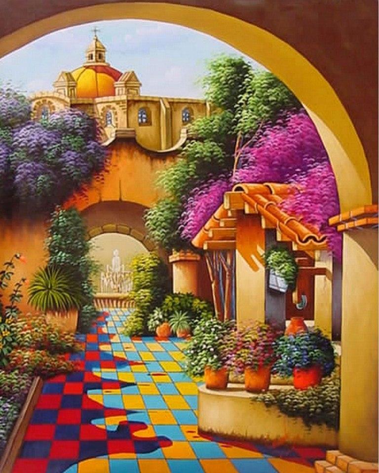 Paisajes Artisticos Faciles Paisaje Artístico Pintado al