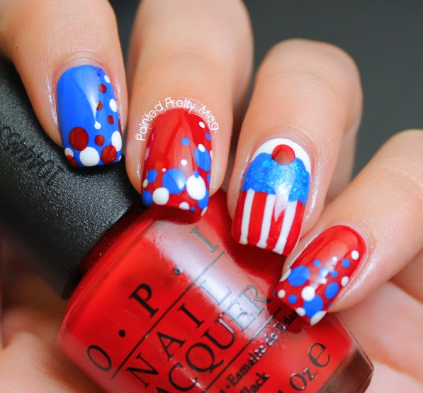 OPI-Big-Apple-Red-4th-Of-July-Nail-Art