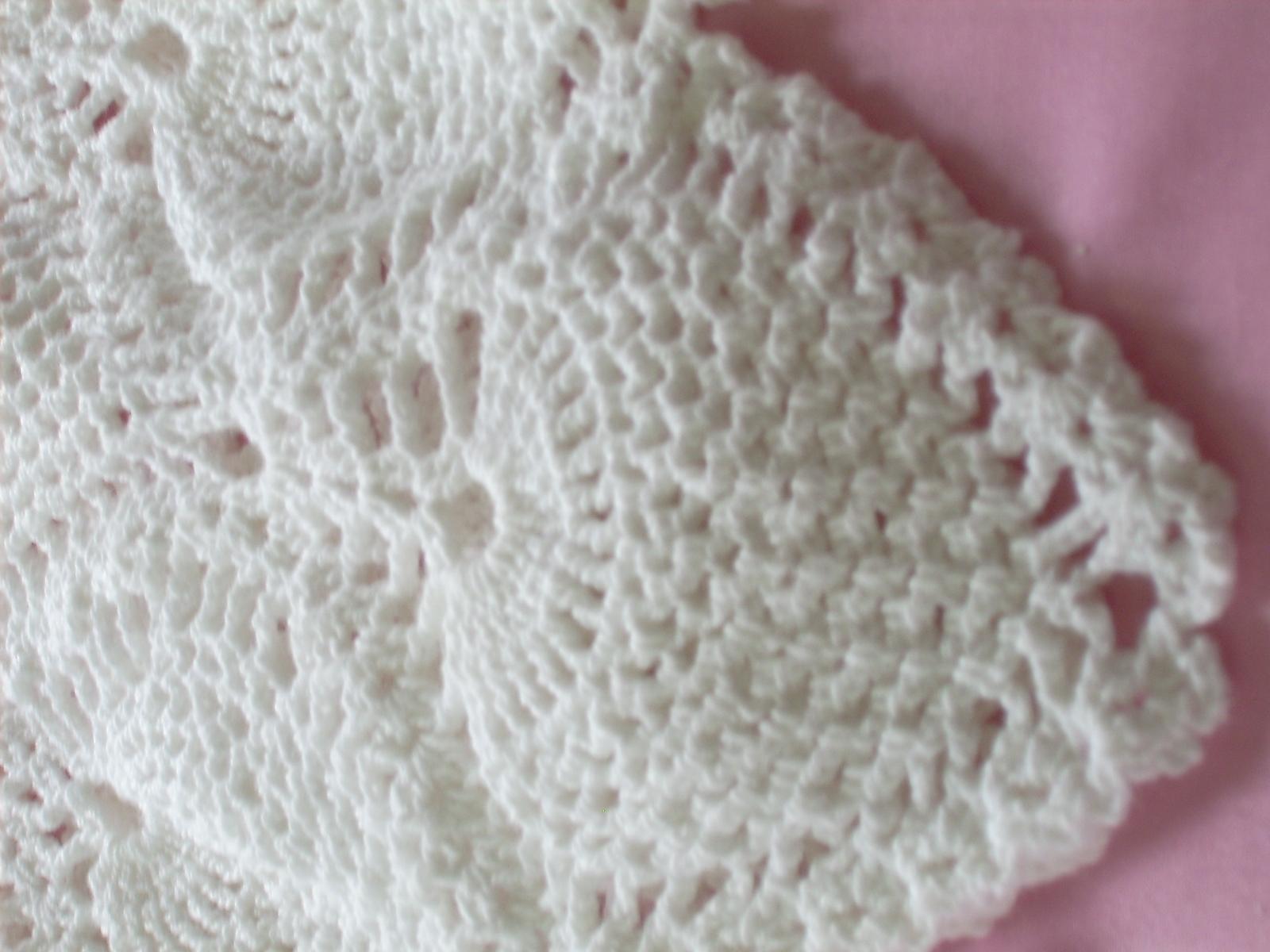 antiquebeginnings: Hand Crochet Pineapple Christening Gown