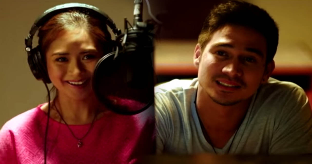 The Breakup Playlist 2015 romantic film directed by Dan Villegas from Star Cinema and Viva Films starring Sarah Geronimo and Piolo Pascual about band, music, and priorities