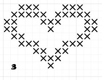 heart free cross stitch pattern